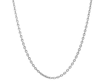 2.5mm by 3.5mm Small Oval Link Chain Necklace in Stainless Steel by Taormina Jewelry