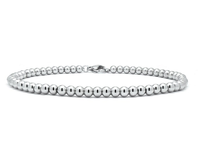 Stainless Steel Beads Necklace by Taormina Jewelry