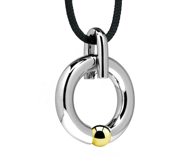 Stainless Steel and Gold Two Tone Pendant Tension Set