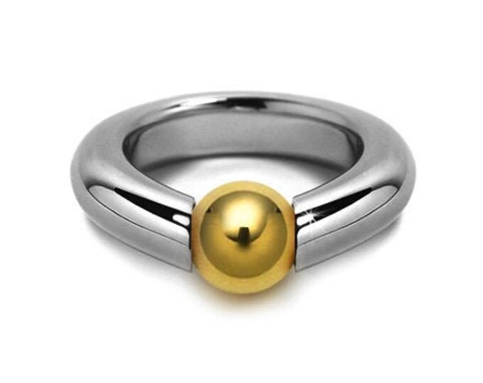 Two Tone Ring Tension Set Gold & Stainless Steel