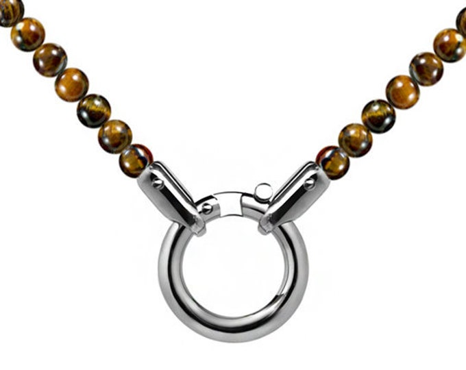 Spiritual Bead Charm Necklace with Tiger Eye