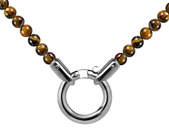 Spiritual Bead Charm Necklace with Tiger Eye by Taormina Jewelry