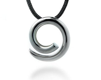Swirl Shaped pendant in Stainless Steel