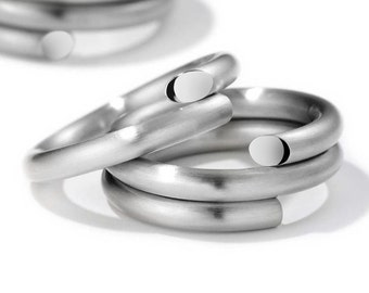 Spiral Loop Ring in Stainless Steel