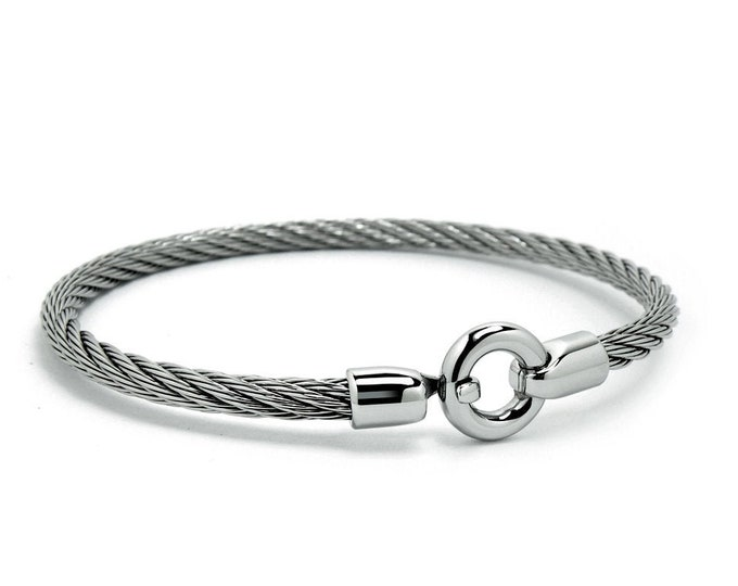 Women's Stainless Steel Cable Wire Bracelet