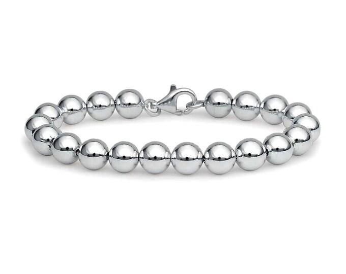 8 mm, 7 mm Stainless Steel Beads Bracelet