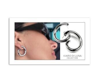 Stainless Steel Swirl Earrings Modern Fashion Design