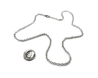3mm Thin Stainless Steel Chain Necklace for Pendants and Charms