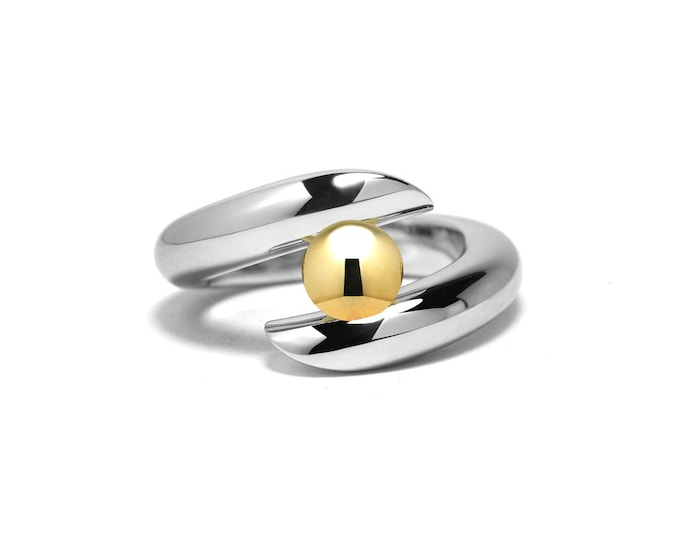 Gold and Stainless Steel Two Tone Ring Tension Set