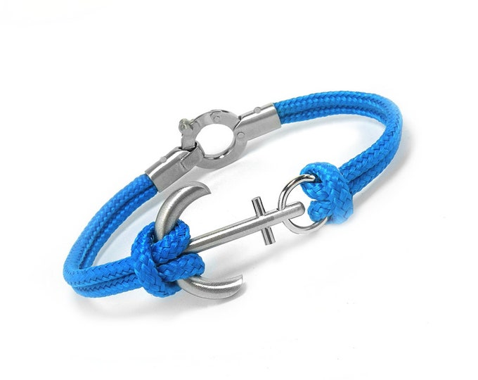 Anchor Bracelet Nautical Cord Rope in Stainless Steel great for Sailor and Nautical Lovers