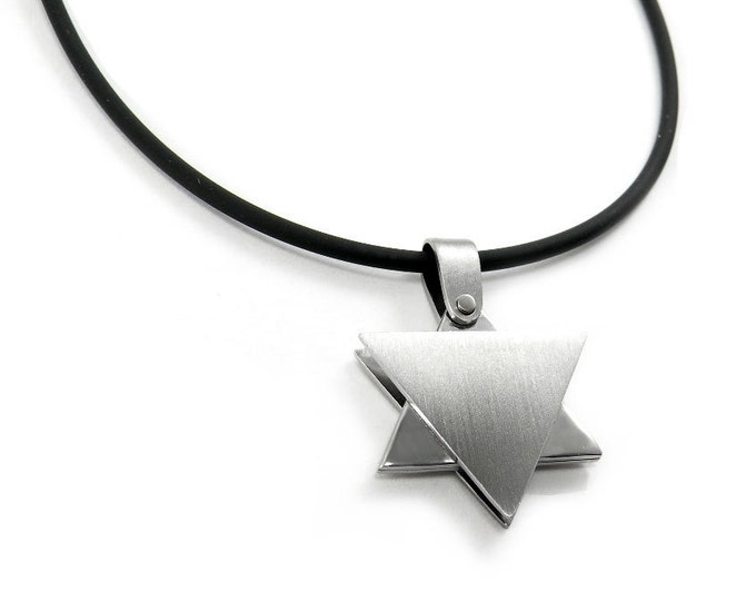 Star of David Necklace, unique design made of  Stainless Steel