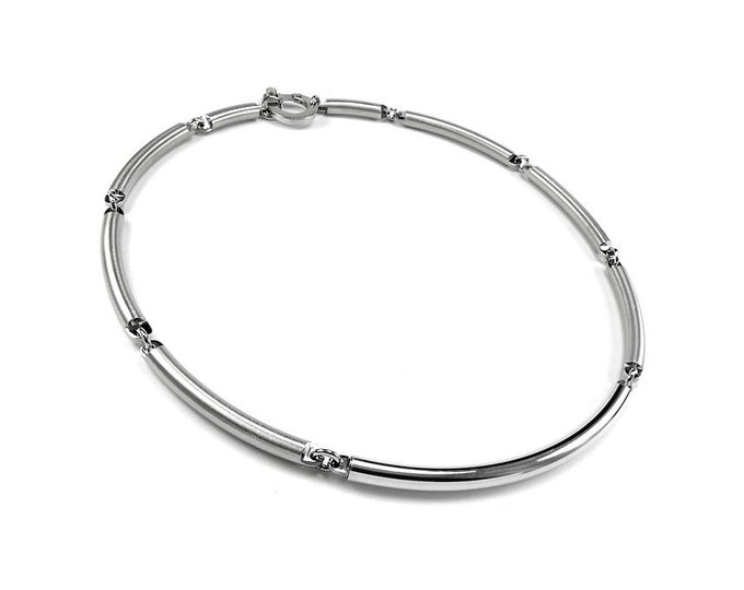 Two Tone Stainless Steel Men's Tube Necklace