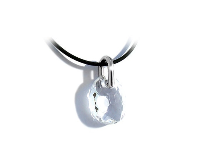 White Clear Crystal Creole Murano Sliding Glass Pendant