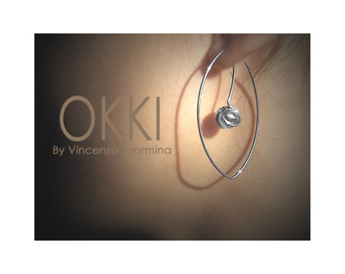 Stainless Steel Wire Earrings with Spheres