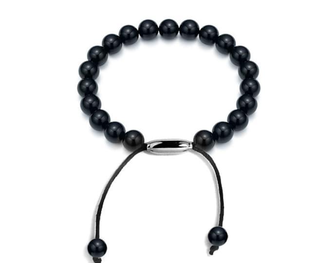 Modern Obsidian Bracelet Layering Style Bead by Taormina Jewelry