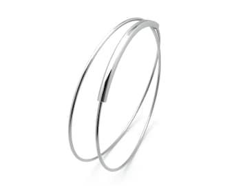 Elegant double  wire bracelet in Stainless Steel by Taormina Jewelry