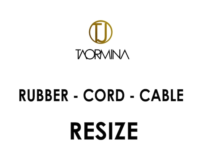 Resize Service for Rubber, Cord & Cable Jewelry - Fee and Returns Procedures