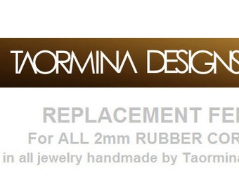 Replacement Fee for 2mm Rubber and Cord Necklaces