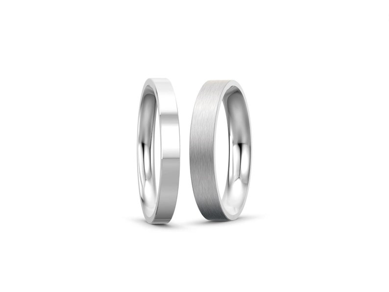 2mm 3mm 4mm 5mm Stainless Steel Flat Comfort fit Wedding image 0