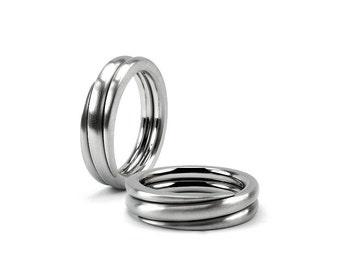 Ring Stainless Steel Mens Swirl Wedding Band