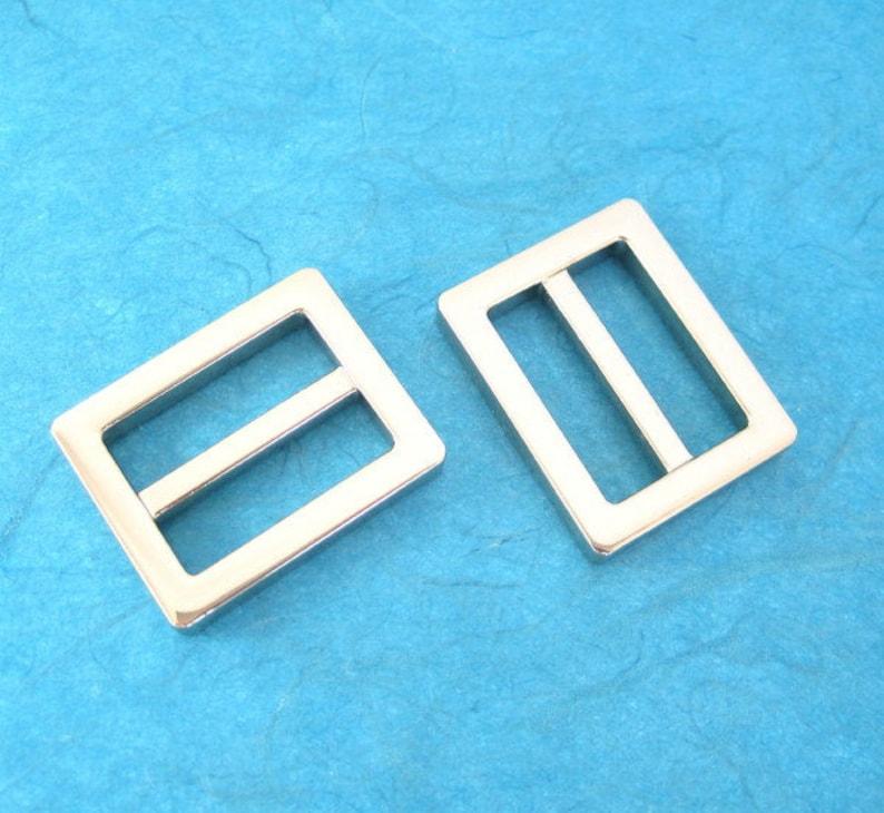 2 Nickel Sliders or D-Rings 1 inch  Rectangular