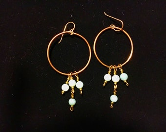 Earrings,Freshwater Pearl Hoop