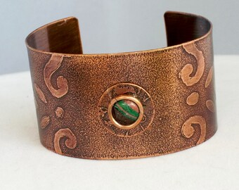 Wide Cuff, copper and Colors of the Desert