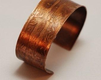Etched Copper Cuff