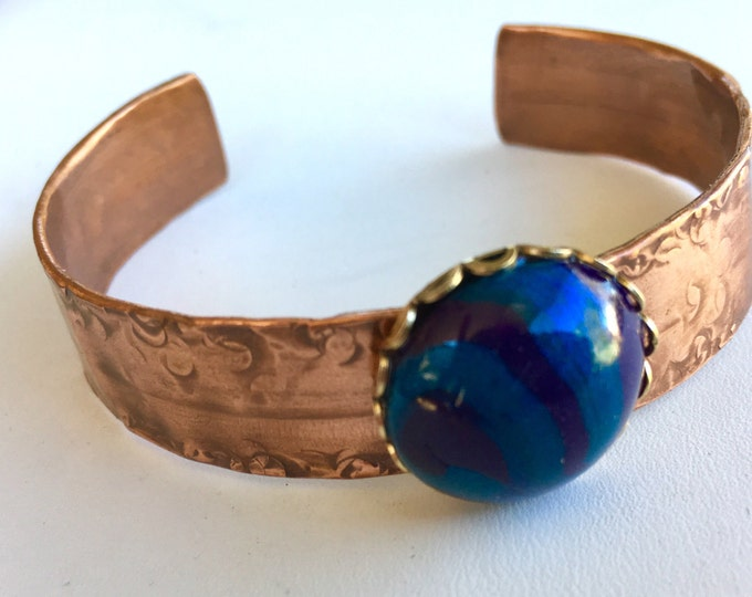 Cuff Bracelet, Copper, Handmade