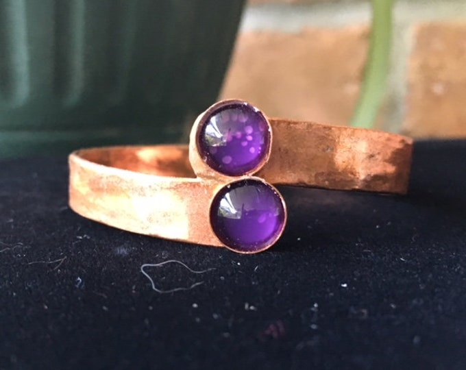 Copper Cuff with a little Bling