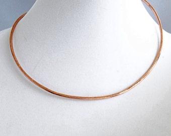 Neck Ring, Handmade Copper