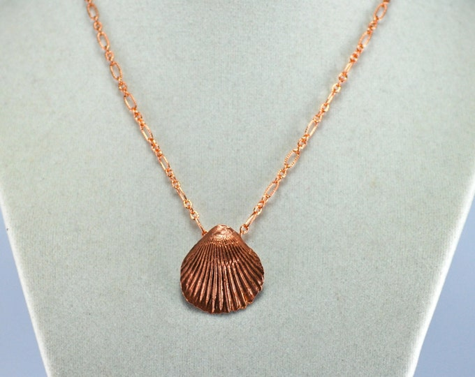 Sea Shell Pendant, Copper