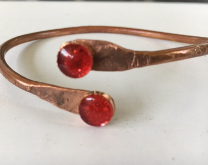 Bangle, Copper with Red