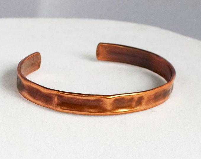 Narrow Cuff, Hammered Copper