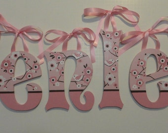 Pink Cherry Blossom Wall Letters