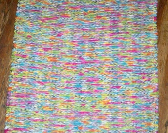 Handwoven One of a Kind Rag Rug - Pastel Multi - Inv. ID  #01-0871