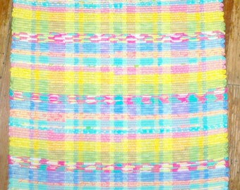 Bright Pastel Multi Handmade Rag Rug - (Inv. Id #01-0561)