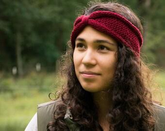 Knit Winter Headband, Knitted Wool Ear Warmer, Knit Headband Wool, Chunky Knotted Headband, Turban Headband, Women's Headband
