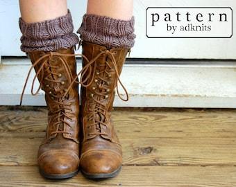 Boot Cuff Pattern, Knitting Pattern, Digital PDF Download File