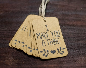 Knitter Gift Tags, Craft Gift Tags, Maker Gift Tags, Handmade Gift Tags, Kraft Brown Gift Tag Set, Funny Gift Tag, Knitting Tag, Cardstock