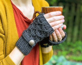 Fingerless Mittens, Knitted Wool Mittens, Cut Off Mittens, Fingerless Gloves, Fall Accessories, Winter Mittens, Gifts for Her, Knitted Gift,