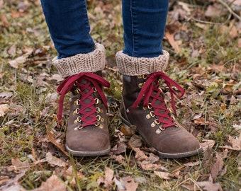Women's Knitted Boot Cuffs, Hand Knit Boot Toppers, Boot Cuffs Women, Knitted Wool Cuffs, Winter Accessories, Fall Fashion