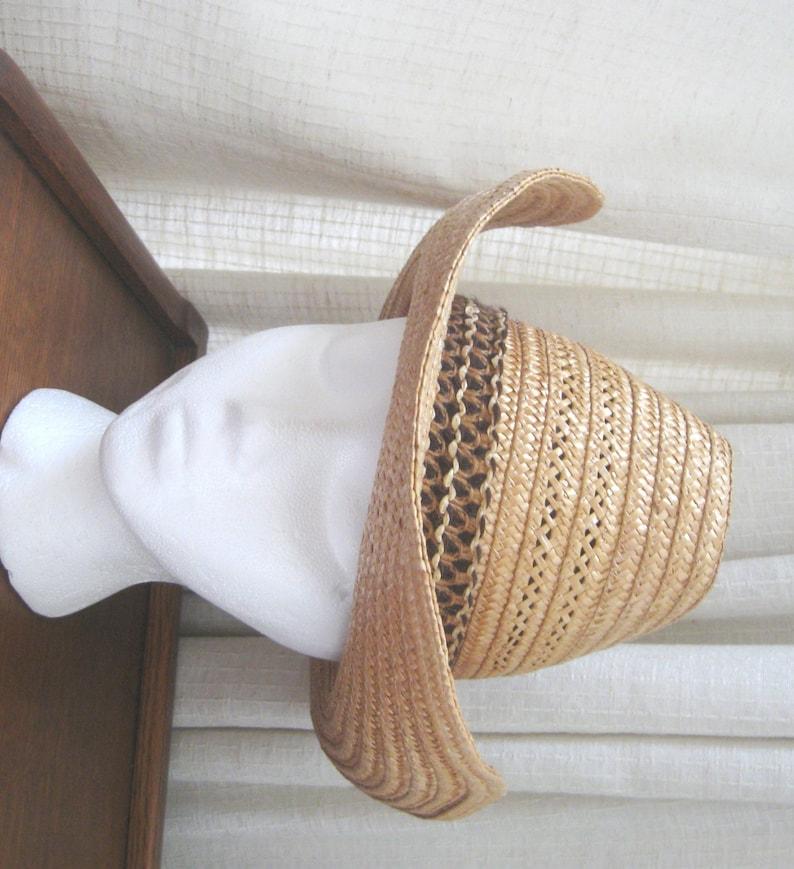 3137f5b39cb Vintage Straw Cowboy Hat Teton Western Hat Made in Italy