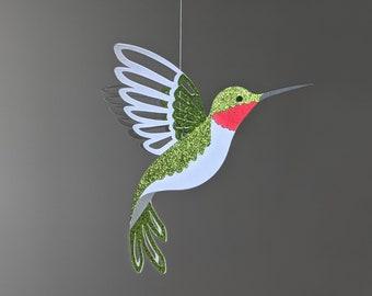 Hummingbird SVG, Hanging Hummingbird Decoration