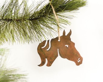 Horse Metal Ornament / by WATTO Distinctive Metal Wear/ Horse Head/ Horse Lover/ Gift for Horse Lover/ Christmas Ornament/ Equestrian /