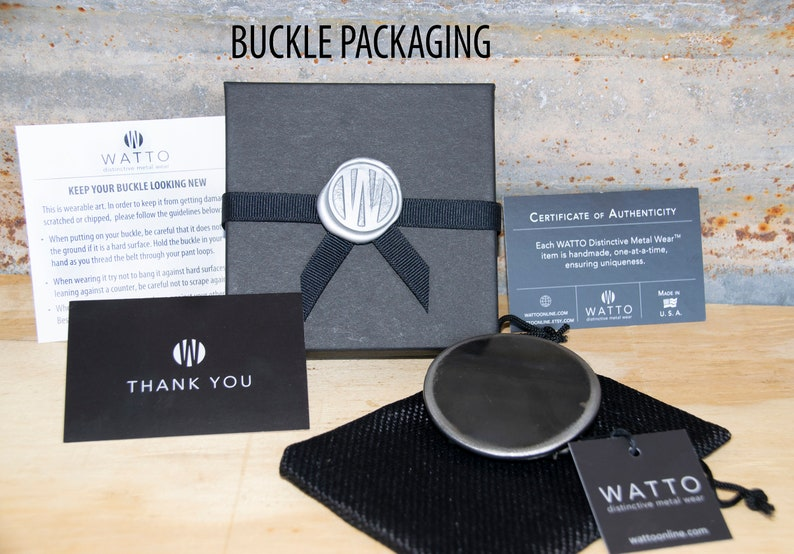Outlaw Doggy Belt Buckle by WATTO Distinctive Metal Wea Spike