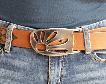 Daisy Metal Belt Buckle by WATTO Distinctive Metal Wear / Removable  interchangeable buckle /Handmade buckle / Novelty Buckle / Flower