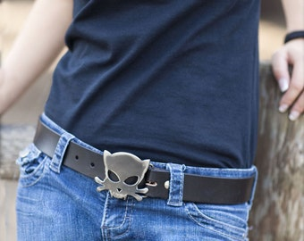 Cat Buckle/Outlaw Kitty Belt Buckle by WATTO Distinctive Metal Wear /Buckles For Men/ Belt Buckles For Women/ Cat Lover/ Cat Gifts