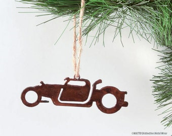 Truck Rat Rod Rusty Metal Ornament / Christmas Ornament / Light Pull / Car Ornament Gifts for Him/Gift for Gearhead / Vintage Car/Metal Car