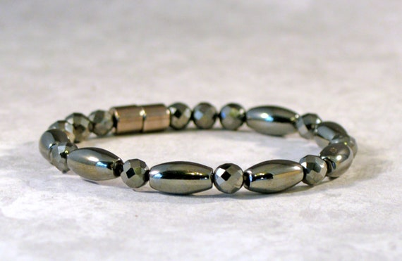 Men's Women's African Turquoise Magnetic Hematite Necklace THERAPY STRONG! Ketten
